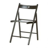 TERJE Folding chair, black - 002.224.40