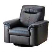 TIMSFORS Swivel recliner, Mjuk, Kimstad black - 502.729.51