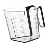 UPPENBAR Measuring cup, clear, black - 101.349.71