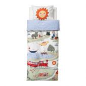 UTELEK Duvet cover and pillowcase(s), multicolor - 802.643.70