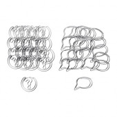 VÄLBEKANT Paper clips, assorted designs, silver color - 102.675.79