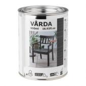 VÅRDA Wood stain, outdoor use, black - 502.881.84