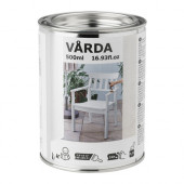 VÅRDA Wood stain, outdoor use, white - 702.881.83