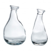 VÅRVIND Vase, set of 2, clear glass - 102.333.77