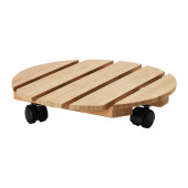 VILDAPEL Plant stand on wheels, bamboo - 802.372.25